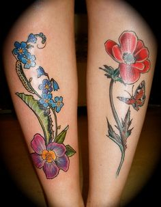 Both of them are done at Classic Ink and Mods in Amsterdam, by Barbara Swingaling.