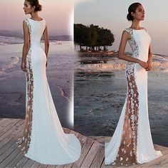 Women Formal Wedding Bridesmaid Evening Party Ball Prom Long Cocktail Dress Size S Mermaid Dresses, Bridal Dresses, Bridesmaid Dresses, Maxi Dresses, Formal Dresses, Formal Wedding, Wedding Gowns, Wedding Lace, Wedding White