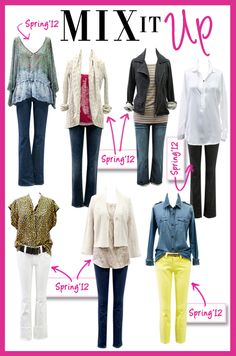 Mix this fall with last spring! CAbi's clothes  mix and match from season to season!