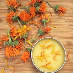How To Make Calendula Salve // Calendula is an herb that is very gentle on the skin and perfect for scrapes and bug bites. Learn how to make a heal-all calendula salve! Natural Home Remedies, Natural Healing, Herbal Remedies, Natural Oil, Healing Herbs, Holistic Healing, Medicinal Plants, Health Remedies, Natural Beauty