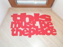 "Felpudo de diseño ""This must be the place"""