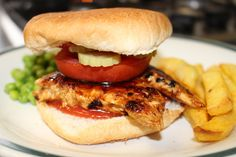 Honey glazed spicy chicken burger | Fabulous Food :)