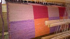 Weaving square rag rug