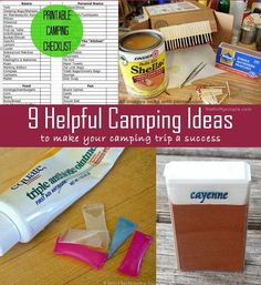 9 Helpful Camping Ideas and a Printable Camping Packing List