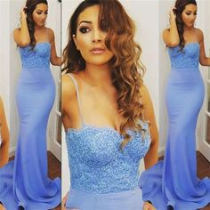 Spaghetti Straps Prom Dresses,Mermaid Prom Dresses,Blue Prom Dresses , Sexy Prom Dresses,Cocktail Prom Dresses ,Evening Dresses,Long Prom Dress,Prom Dresses Online,PD0151