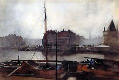 Amsterdam, 1891, watercolour by Willem Witsen