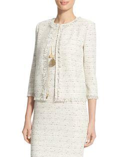 Izza Jewel Neck Knit Jacket