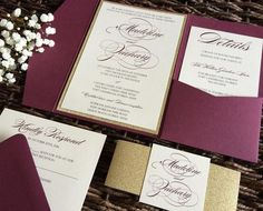 "26 Likes, 1 Comments - CZ invitations, LLC (@czinvitations) on Instagram: ""Beautiful in burgundy  #wedding #burgundy #etsy #weddingideas #weddinginvitation #stationary…"""