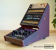 If you want to give your Waldorf Streichfett and 2 Korg volca's a beautiful wooden home that any studio desk would be proud to have, then mixingtable.com ha