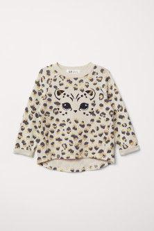 Sweatshirt with Printed Design - Beige melange/leopard - Kids Best Hoodies For Men, Kids Outfits, Cute Outfits, Baby Leopard, H&m Kids, Printed Sweatshirts, Baby Wearing, Sweater Hoodie, Sleeve Styles