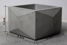 Negocio casa geométrica bricolaje concreto silicona molde | Etsy