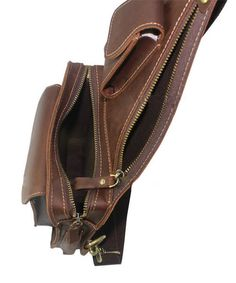 "ModernManBags.com - ""Cardiff 2"" Men's Full Grain Leather Single Shoulder Sling - Dark Brown, $69.99 (http://www.modernmanbags.com/cardiff-2-mens-full-grain-leather-single-shoulder-sling-dark-brown/)"