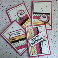 Carolina Evans - Stampin' Up! Demonstrator, Melbourne Australia: Stacks of Birthday Cards - Its My Party Suite