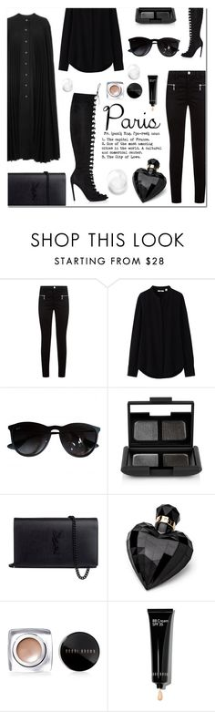 """Untitled #641"" by millilolly ❤ liked on Polyvore featuring Burberry, Giambattista Valli, J Brand, Uniqlo, Ray-Ban, NARS Cosmetics, Yves Saint Laurent, Lipsy, Bobbi Brown Cosmetics and fallgetaway"