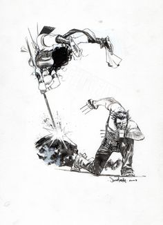 Wolverine and Elektra by Sean Murphy