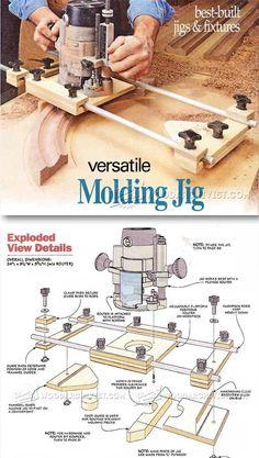 Molding Jig - Furniture Molding Construction Techniques | WoodArchivist.com #WoodworkingTips