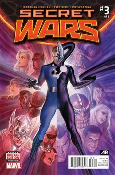 The cover to Secret Wars #3 (2015), art by Alex Ross