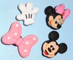 2 Minnie Mouse Shoe Charms Free UK P/&P