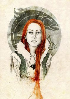 Catelyn Stark, née Tully, by Elia Mervi