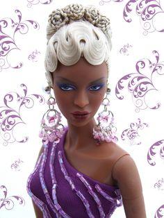 love her hair design Beautiful Barbie Dolls, Pretty Dolls, Diva Dolls, African American Dolls, Ken Doll, Black Barbie, Barbie World, Barbie Friends, Barbie And Ken