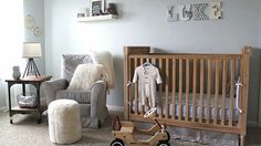 {Video room tour} Classic, gender neutral nursery video tour - #nursery #genderneutral