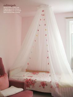 Make bed curtains/privacy tents in coordinating fabric for K&C's beds