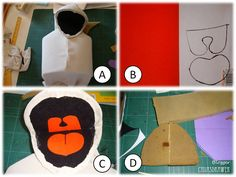 Here are the pics I have compiled to show how the mouth puppet  was made.  The pattern can be downloaded at the following link:  http://www....