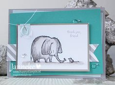 Happy Stampin' - Stampin' Up! - Thank You, Friend                                                                                                                                                     More