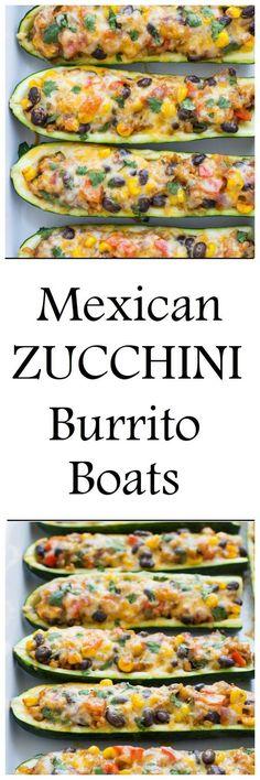 Zucchini Burrito Boa