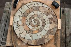 Stone Art Blog: Making a mosaic.(Can use tips for making a fairy stone patio or path)