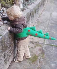 DIY Dragon Tail.  What kid doesn't need one of these?