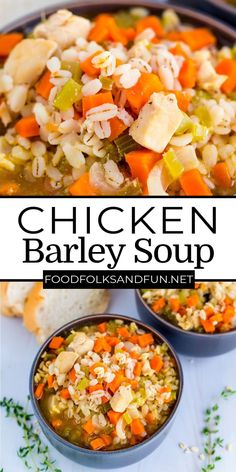 I feel like soups are sometimes reserved for the colder months of the year, but I am here to tell you soups, like this chicken barley soup recipe can be served year-round. For more easy soup recipes follow Food Folks and Fun!