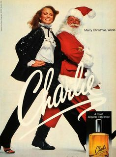 Revlon's Charlie, named after Charles Revson, was released in 1973. It was originally launched to compete with Estée, a fragrance released by Estée Lauder. Ad campaigns for the scent featured models Shelley Hack (shown in this 1978 holiday ad), Charly Stember, and Naomi Sims.