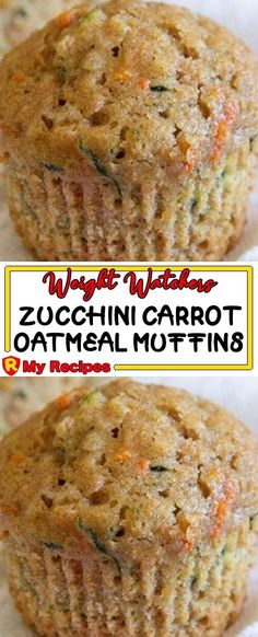 Muffins are super delicious and it is definitely one of my favourite things to have Carrot Zucchini Recipe, Zucchini Muffin Recipes, Zucchini Bread Recipes, Carrot Recipes, Banana Bread Recipes, Ww Recipes, Healthy Dessert Recipes, Breakfast Recipes, Weight Watchers Zucchini