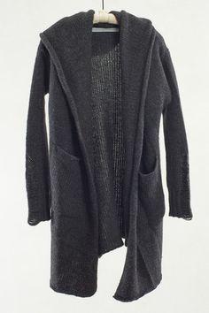 Raquel Allegra Black Hooded Coat