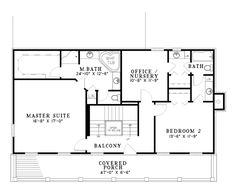 House Plan 62254 Level Two