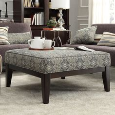 (1) Ottoman/Coffee Table for Living Room - INSPIRE Q Ashland 36-inch Upholstered Cocktail Ottoman - $245.69