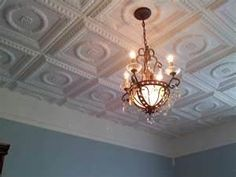 Faux Tin Ceiling Tiles for kitchen or living room.