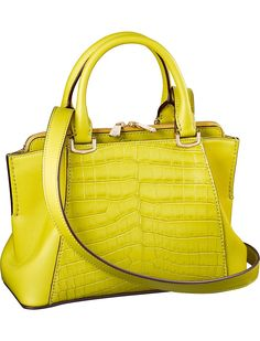 64da5474ad CARTIER - C de Cartier crocodile-leather and calfskin bag