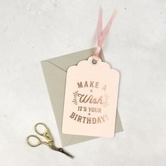 Studio Seed Make A Wish It's Your Birthday Card