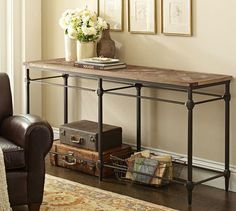 Parquet Console Table | Pottery Barn