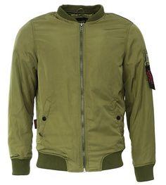 Marikoo Herren Jacke Flieger Bomber Trend Jacke M30 (S, Grün)
