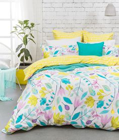 cottonbox - bed linen :: Quilt Cover Sets, kids bed linen, Duvet Cover Sets, Buy bed linen, quilt sets, comforter, bed linen Australia - Rosalyn Quilt Cover Set by Bambury