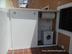 Aqui mostramos algunas fotos de nuestro trabajos Outdoor Laundry Rooms, Small Laundry Rooms, Laundry Room Design, Kitchen Design, Washing Basket, Garage, Bars For Home, Interior Design Living Room, Home Projects