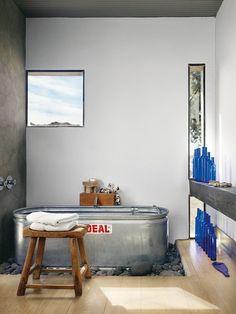Tour the Coolest Homes in Marfa, Texas - GQ Liz Lambert, Marfa Texas, Interior Architecture, Interior Design, Rustic Contemporary, Bathroom Inspiration, Household Items, Home Goods, Kitchen Decor