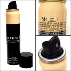 Sephora Collection Perfection Mist Airbrush Foundation. Perfect skin in a can! Blurs the look for pores for a super SMOOTH finish. Buildable and feather light. If your a fan of Dior Airflash but not the price, I think you'll like this too! Waterproof, non-comedogenic, and fragrance free. $28 #cosmetics #sephora #airbrush #dupe #makeup