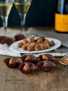 Raw Ginger Chocolate Truffles by 84thand3rd, via Flickr