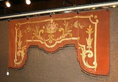 A Baroque style appliqued portiere