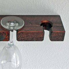 16 Wall Mounted Wine Glass Rack Stemware Holder