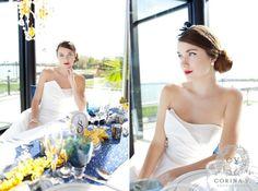 "Our ""Lauren"" dress in Hamilton Halton magazine. Photo by Corina V Photography"